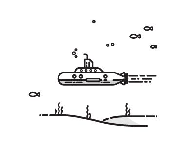 Line illustration – vector | submarine