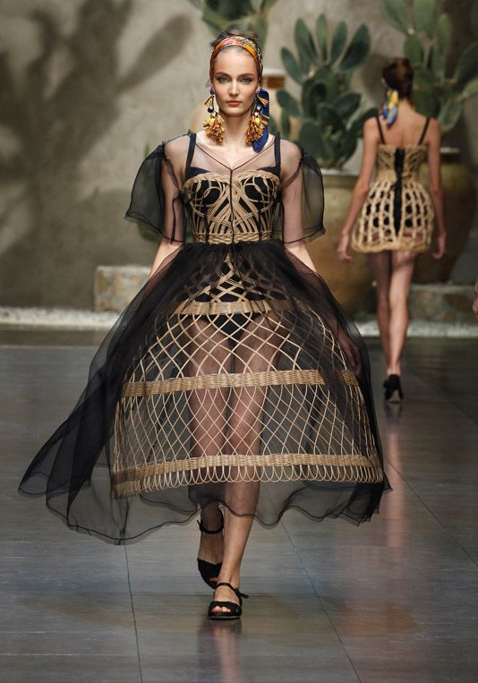 Basket-formed Bodices. Dolce and Gabbana SS13