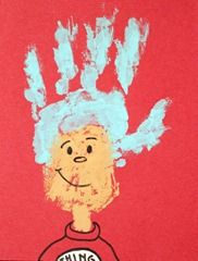 Just too cute! :): Hands Prints, Gifts Ideas, Handprint Teacher Gifts, Palms Prints, Kids Crafts, Paintings Activities, Dr. Seuss, Dr. Suess, Christmas Gifts
