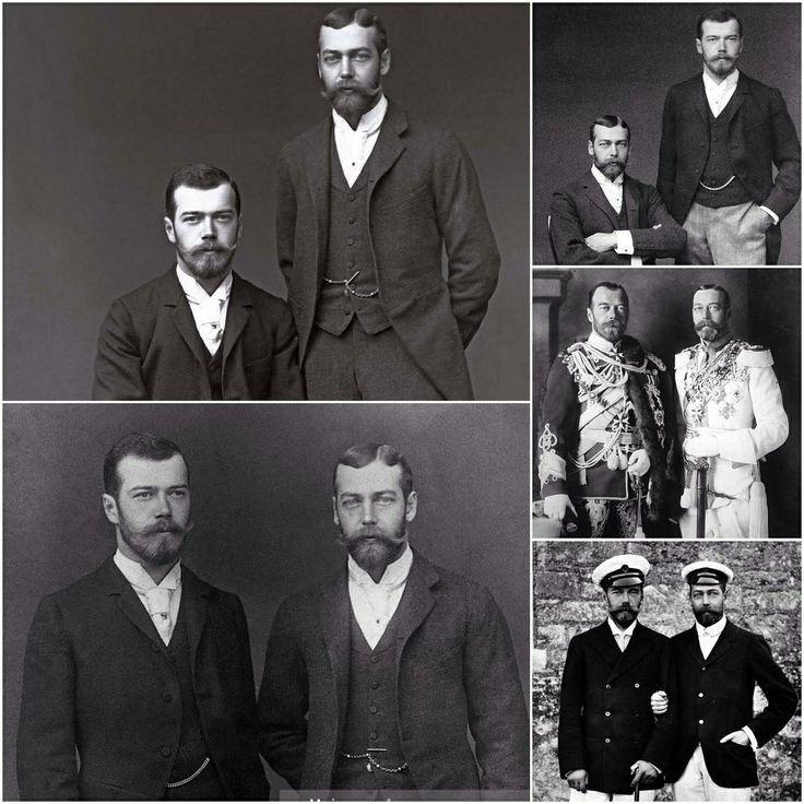 Royal cousins: King George V of the United Kingdom and Tsar Nicholas II of Russian Empire