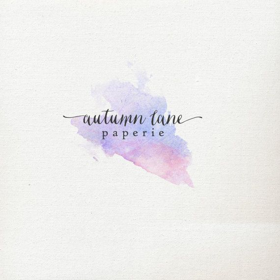 Pre-made Logo Design  Watercolor Logo  by AutumnLanePaperie