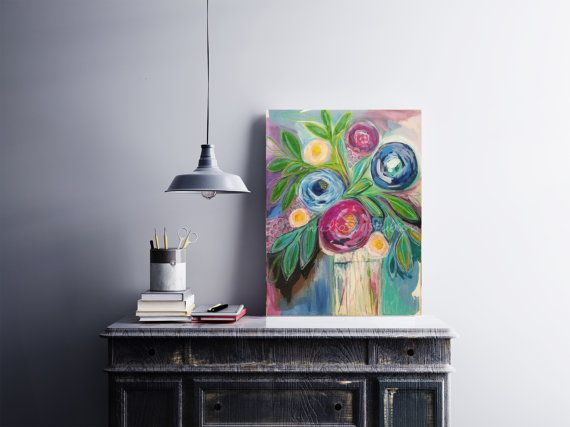 floral flowers contemporary decor blooms blossoms painting by Serena Wilson Stubson