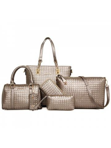 8960616795 Stylish Metallic and Weaving Design Shoulder Bag For Women  For   shoulderbags  and