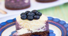 Cheesecake-mini Mirtilli e Limone - Little Blueberries Lemon Cheesecakes