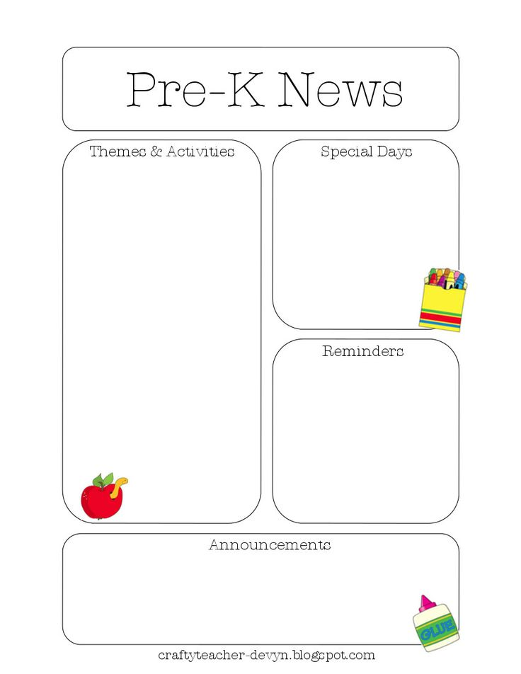 99 best Teacher Calendar \ Newsletter Templates images on - newspaper templates for kids