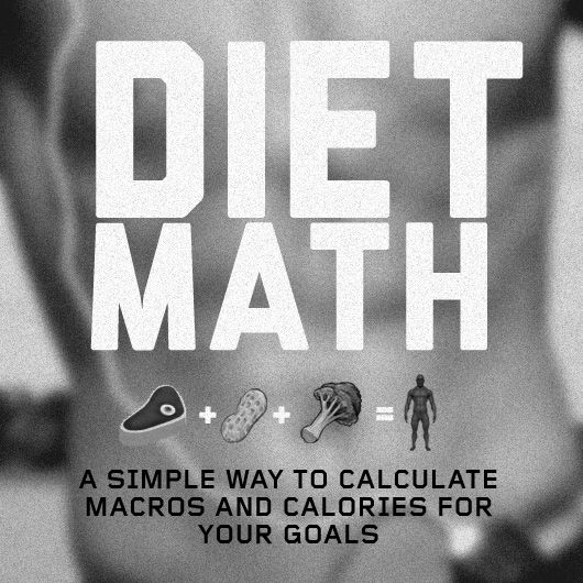 Diet Math: A Simple Way to Calculate Macros and Calories for Your Goals. This is the simplest version I have found and matches almost exactly the macros off IIFYM.com without crazy calculations.