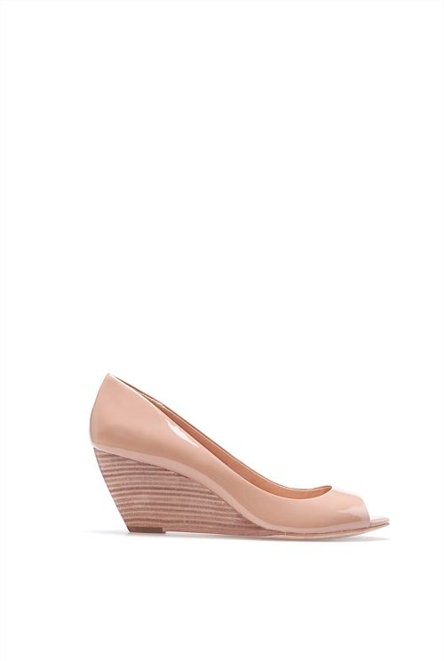 Country Road - Jemma Patent Wedge - like it in black