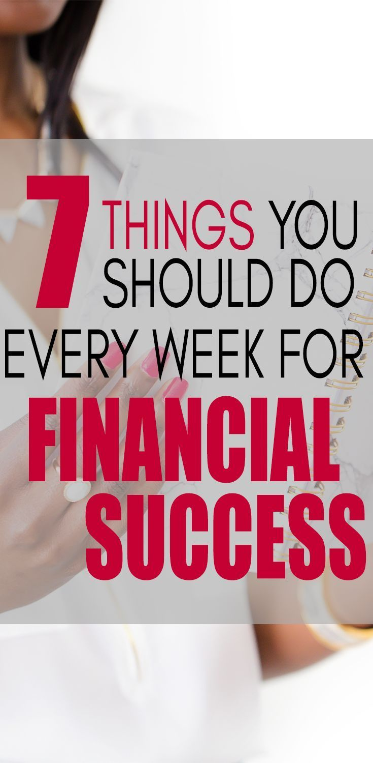 7 Simple Things You Should Do Every Week For Financial Success via @lifeandabudget #personalfinance