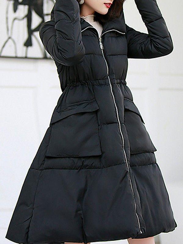 Taschen Langarm Langarm Schwarz Steppmantel Schwarz Ausgestellter Langarm Ausgestellter Steppmantel Taschen Taschen Schwarz Ausgestellter OikXwTPZul