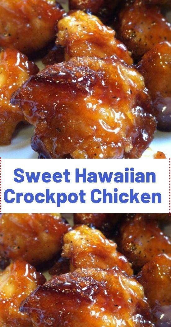 Sweet Hawaiian Crockpot Chicken Recipe  Ingredients:  2 lb. (.9kg) chicken tende…