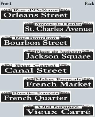 Mardi Gras Street Signs. Mardi Gras Halloween Voodoo Masquerade Ball