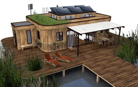 Die österreichische Firma Wohnwagon hat ein kleines autarkes Haus entwickelt, das sich modular auf- und abbauen lässt