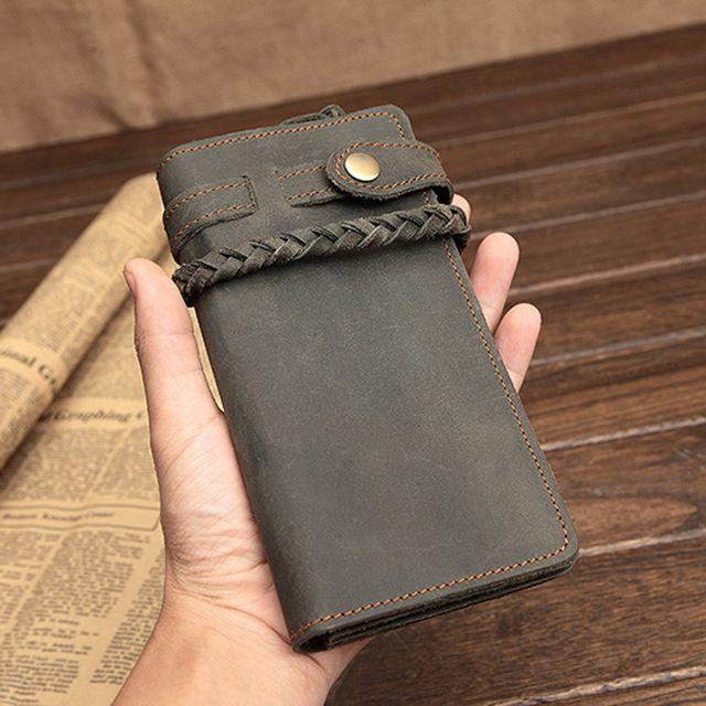 Дизайнерский винтажный мужской кошелек из фирменного FASHION DEPOT #алиэкспресс #али #aliexpress