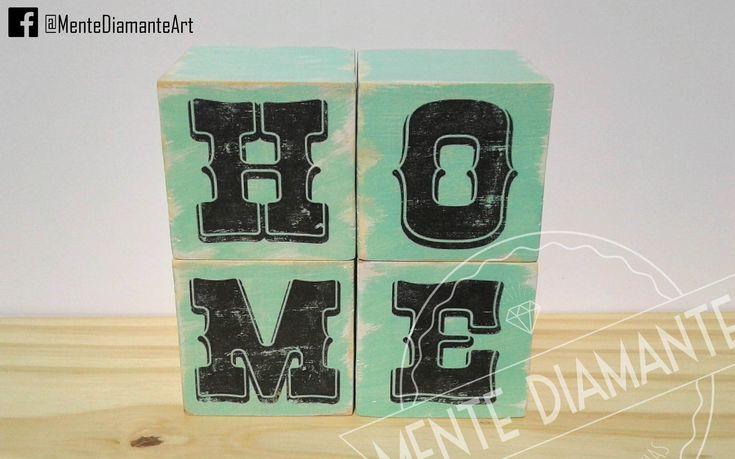 Cubos Vintage de madera LETRAS NOMBRES PALABRAS *Medidas: 7 x 7 x 7 cm aprox. *Pintados y barnizados con LACA *Color de fondo a elección. Las más pedidas: HOME / LOVE / LIVE / MUSIC / HOPE / AMOR & PAZ / VIVE FELIZ / WELCOME * Nombres * Palabras personalizadas. Ideales para: *Deco hogar *Palabras positivas *Nombres de parejas *Iniciales *Nombres infantiles *Cumpleaños *Souvenirs *Mesas de Candy *Centros de mesa. Mente Diamante. #Cubos #Letras #Vintage #Palabras #Hogar #Madera #Home