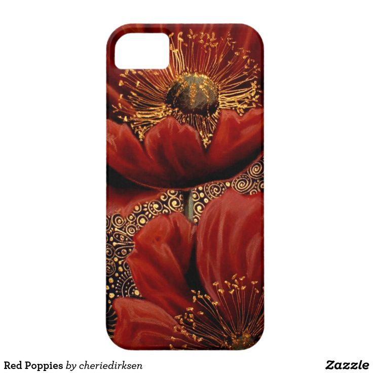 Get 50% off #BlackFriday2017 --- Red Poppies iPhone SE/5/5s Case