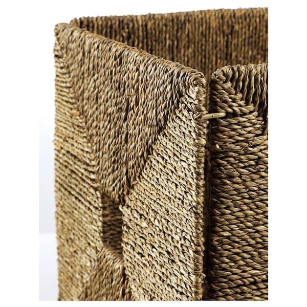 Knipsa Basket Seagrass 12 X13x12 32x33x32 Cm Panier Jonc De Mer Jonc De Mer Panier Rangement Ikea