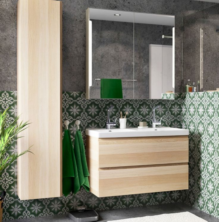 mix materials for a bathroom that suits your style the godmorgon bathroom sink cabinet and