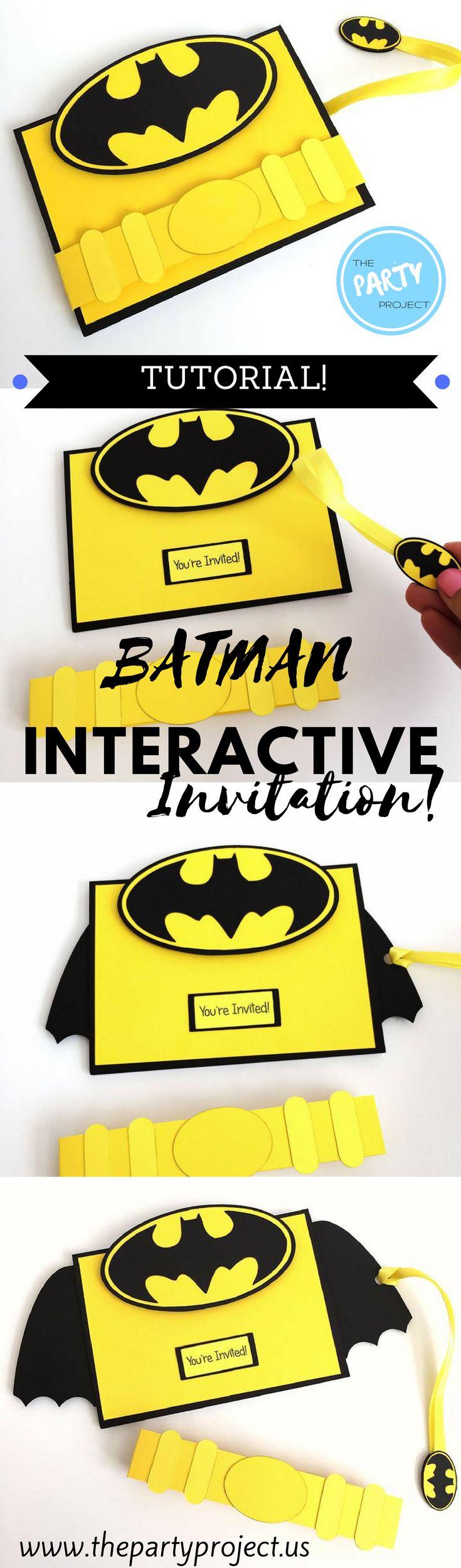 Watch the complete tutorial and learn how to create an amazing BATMAN 3D invitation for your little hero's next birthday party! ////¡Mira el tutorial y aprende a hacer esta increíble tarjeta de invitación para una fiesta de cumpleaños de BATMAN y sorprende a todos tus invitados con una tarjeta interactiva!