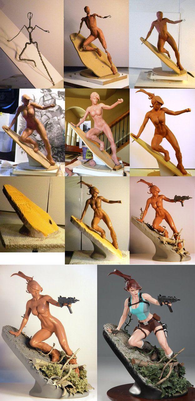AH Lara Croft WIP by *TKMillerSculpt on deviantART