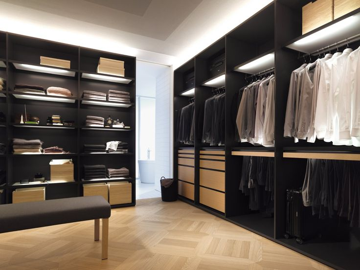 Elegant Walk In Closet Furniture : Furniture Prepossessing Lamps And  Fashionable Brown Long Couch With Elegant Coat Hangers In Agreeable Black  Walk In ...