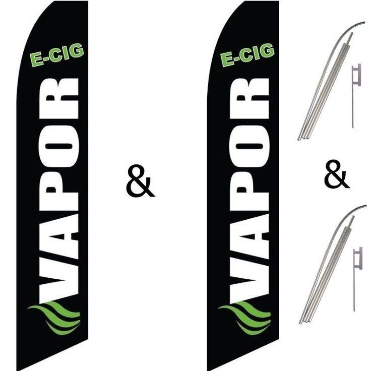 2 Swooper Flag Pole Kits Vapor E Cig Electronic Cigarette #EHTFlags
