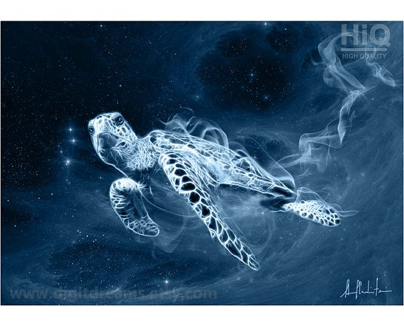 Turtle, shamanic #Patronus gift present artwork by ...