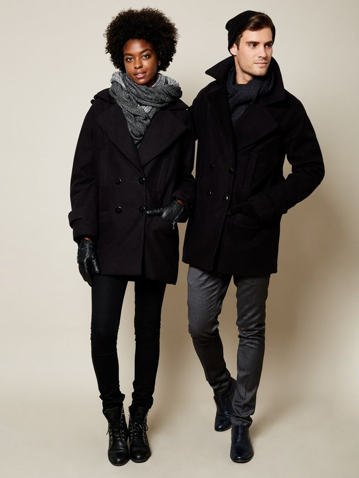 JUST ARRIVED! The Classic VAUTE Peacoat in Black on Him
