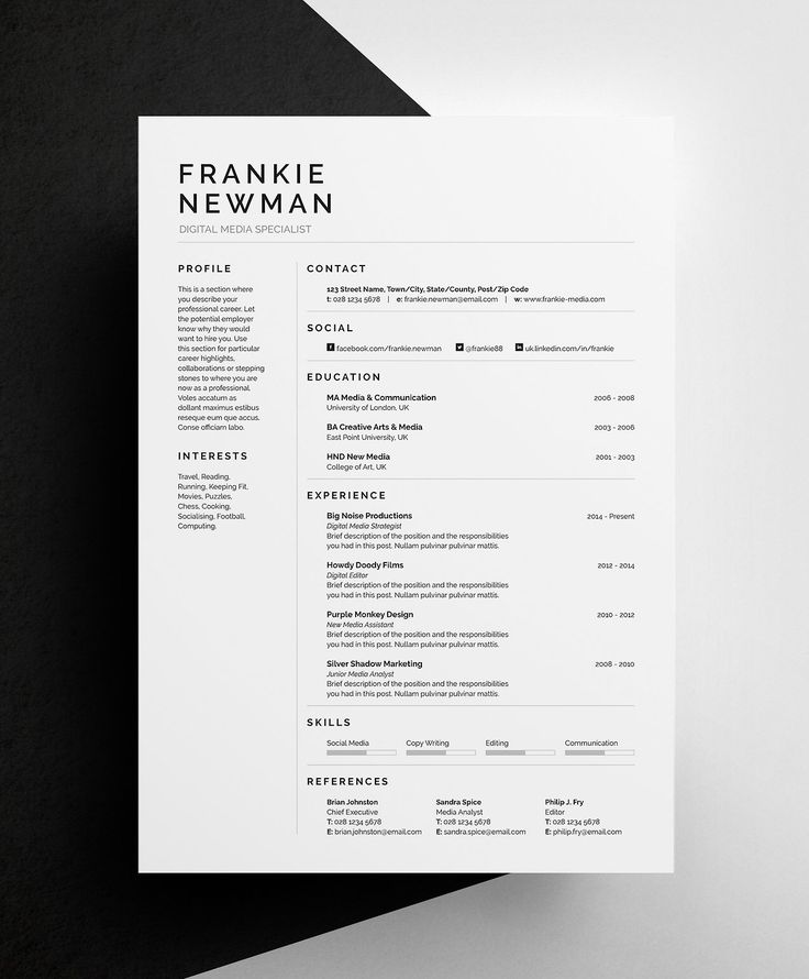 Cover Letter Strong Work Ethic: 17 Best Ideas About Simple Cv Template On Pinterest