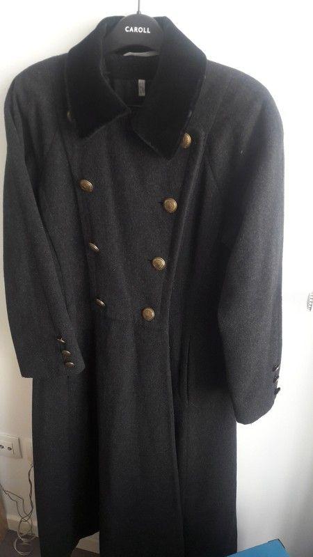 579b78363427 Manteau long gris laine vierge et cashmere