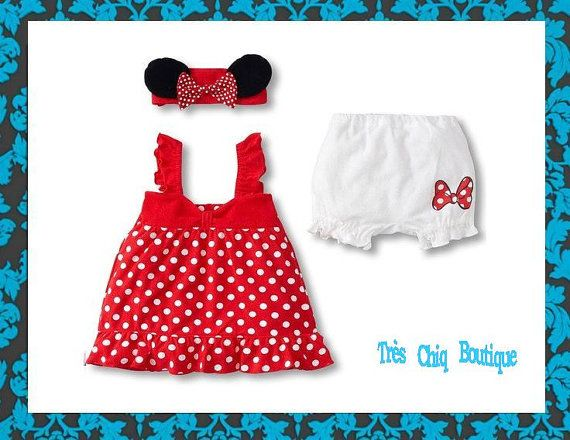 Minnie mouse costume toddler / minnie mouse dress / newborn baby halloween costume / toddler birthday outfit / first birthday disney #28