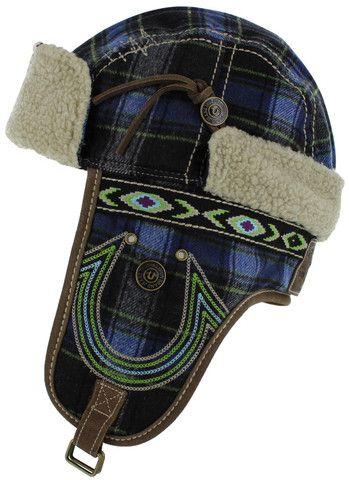 Men's hats - True Religion Jeans Men's Wooly Trapper Bomber Hat Cap