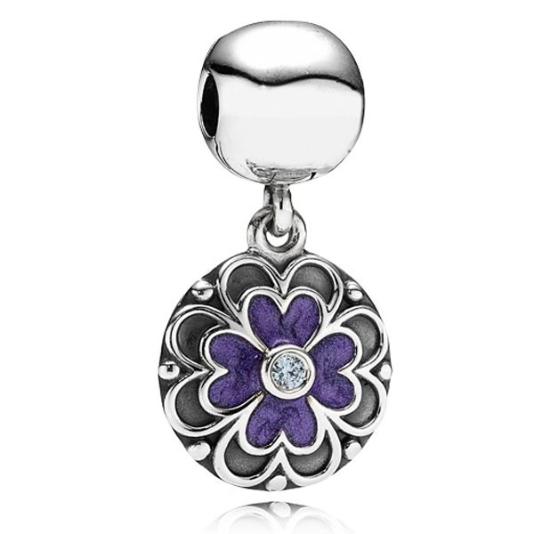 30373037f ... Pandora Purple Enamel Dogwood Dangle Clip- will go with purple bracelet  Authentic Pandora Watchful Eye Pendant Dangle 790529EB eBay Charm ...