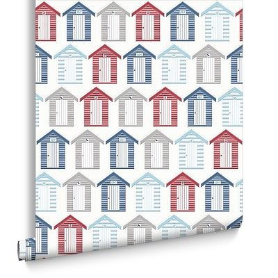#Contour beside the seaside #beach hut coastal #kitchen bathroom wallpaper,  View more on the LINK: 	http://www.zeppy.io/product/gb/2/272249291283/