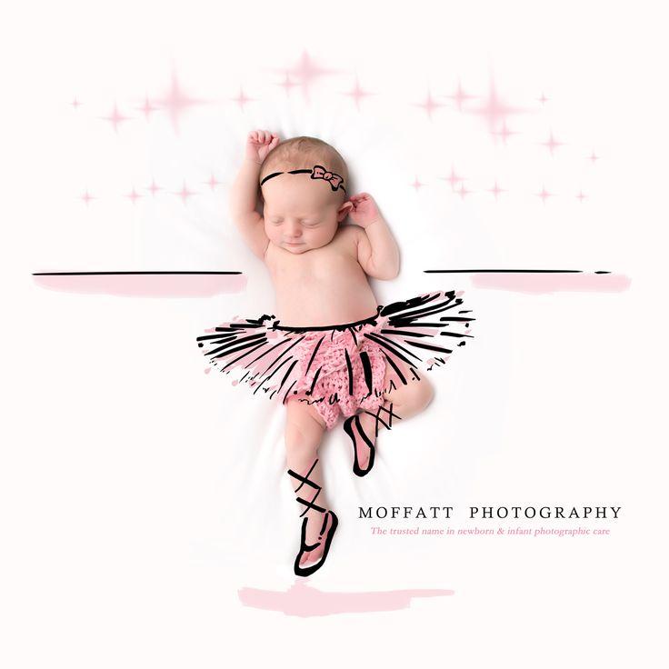 Ballerina, baby art ~ By Moffatt Photography  HOMIGOSH, JENNIFER! We have to do this!