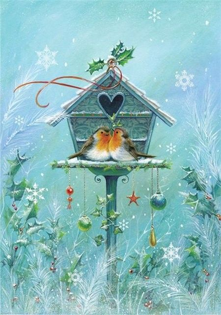 Christmas birds by Sarah Summers..................