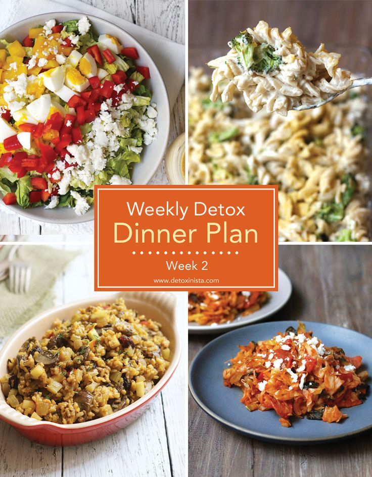 Weekly Detox Dinner Plan (Week 2) | Detoxinista