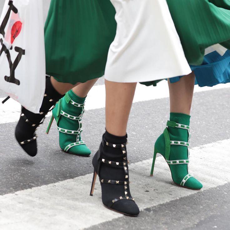 The new #ValentinoGaravani #Rockstud ankle boot