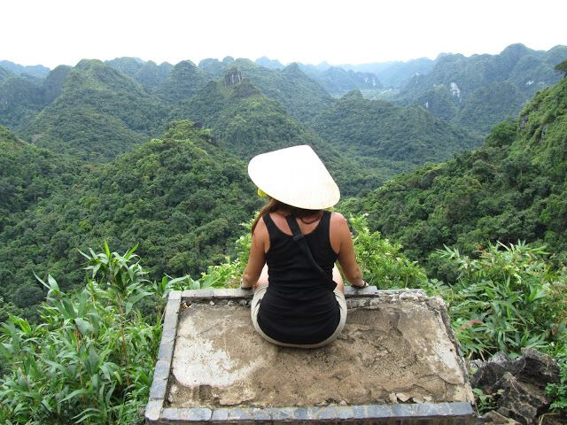 Vistas desde la cima, isla Tam Coc.