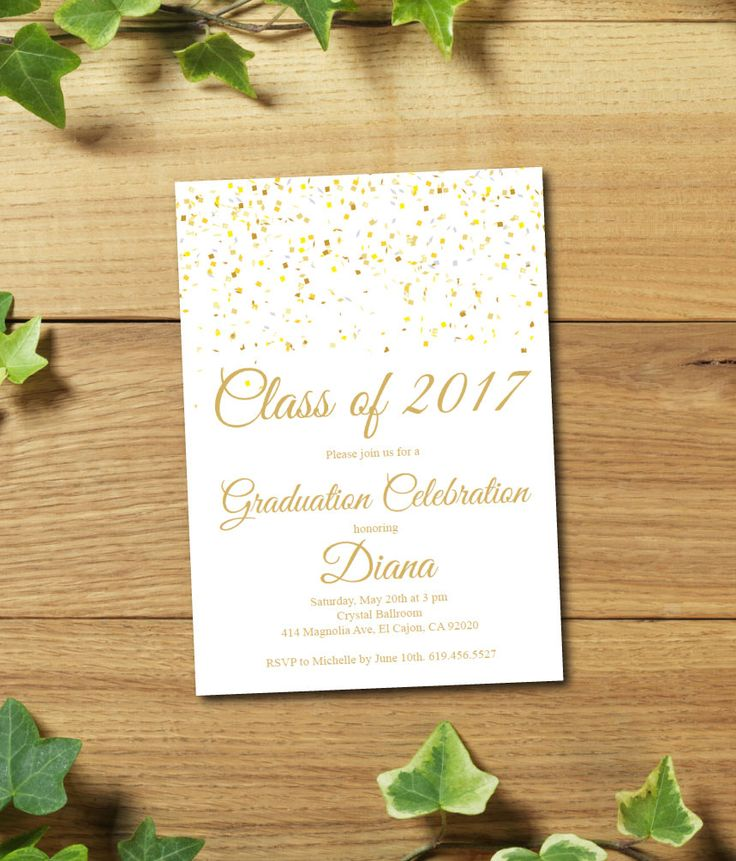 25+ Best Graduation Invitation Cards Ideas On Pinterest