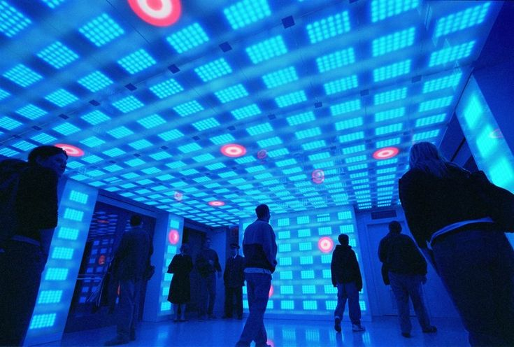 Why Good Lighting Design Has Little to Do With Lux or LEDs, Target Interactive Breezeway, Rockefeller Center, New York. Lighting design by Electroland, www.electroland.net. Image © Electroland