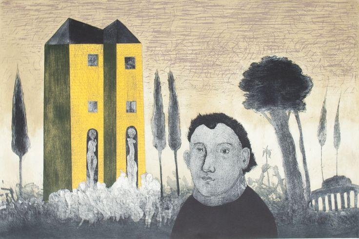 Gonzalo Cienfuegos - Hombre verde - litografía