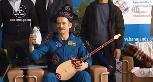 Chris Hadfield was recently crowned King of Space in Kazakhstan...