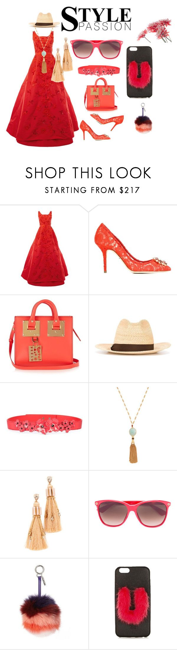 """Red suits for everyone..."" by jamuna-kaalla ❤ liked on Polyvore featuring Oscar de la Renta, Dolce&Gabbana, Sophie Hulme, Dsquared2, Carolina Herrera, Gas Bijoux, Elizabeth Cole, Gucci, Fendi and vintage"