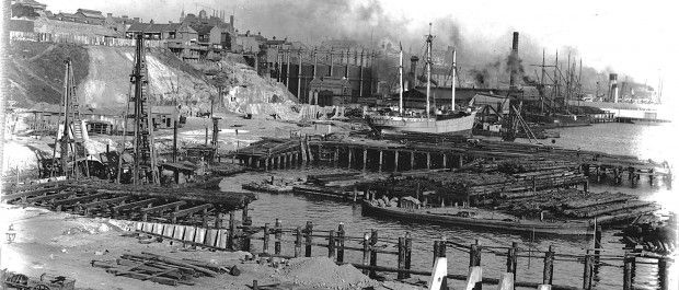 Working Habour - Darling Harbour 1909, looking south - MUST CREDIT Courtesy City of Sydney Archives