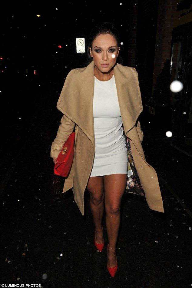 Braving the snow: The former Geordie Shore star looked stylish as she showed off her toned...