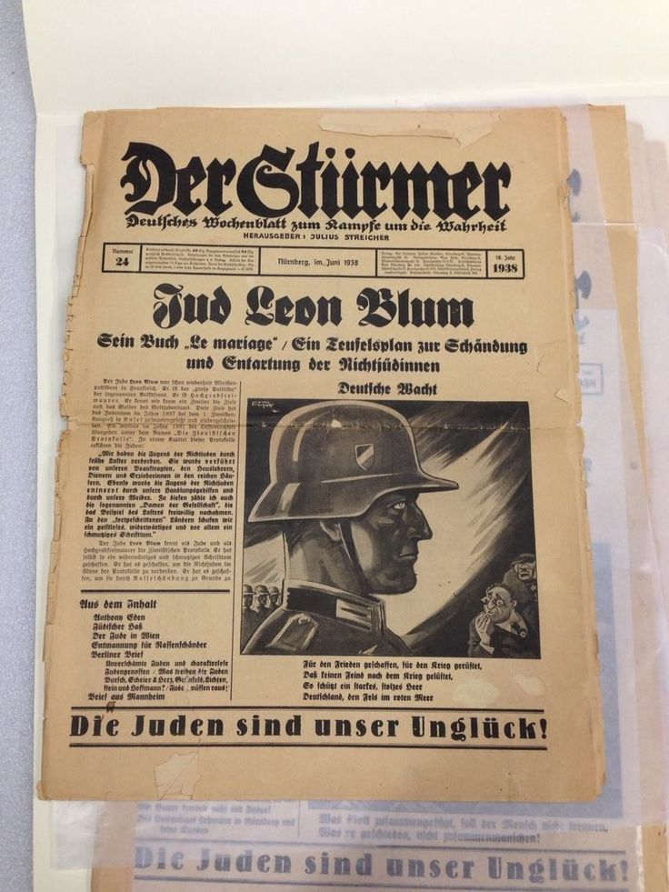 Early issues of Der Sturmer.