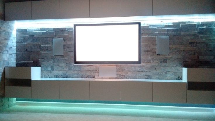 In wall klipsch speakers Ikea besta cabinets strip led lighting stone veneer and lennox gas