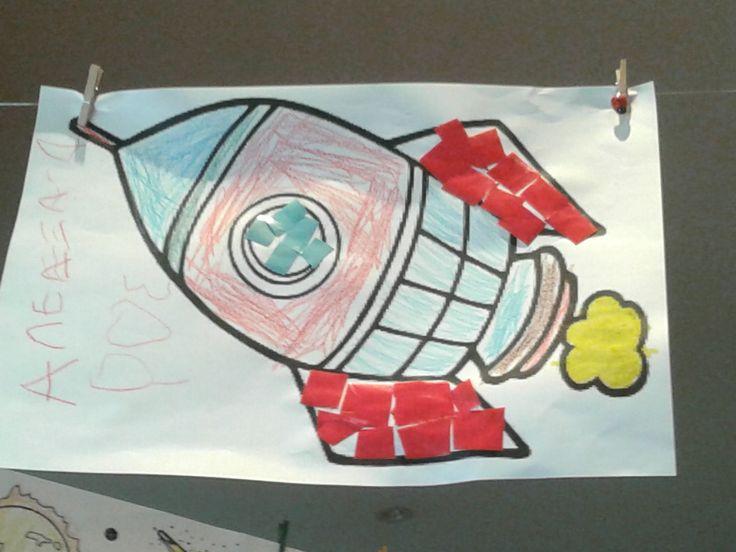 κολλαζ διαστημοπλοιο