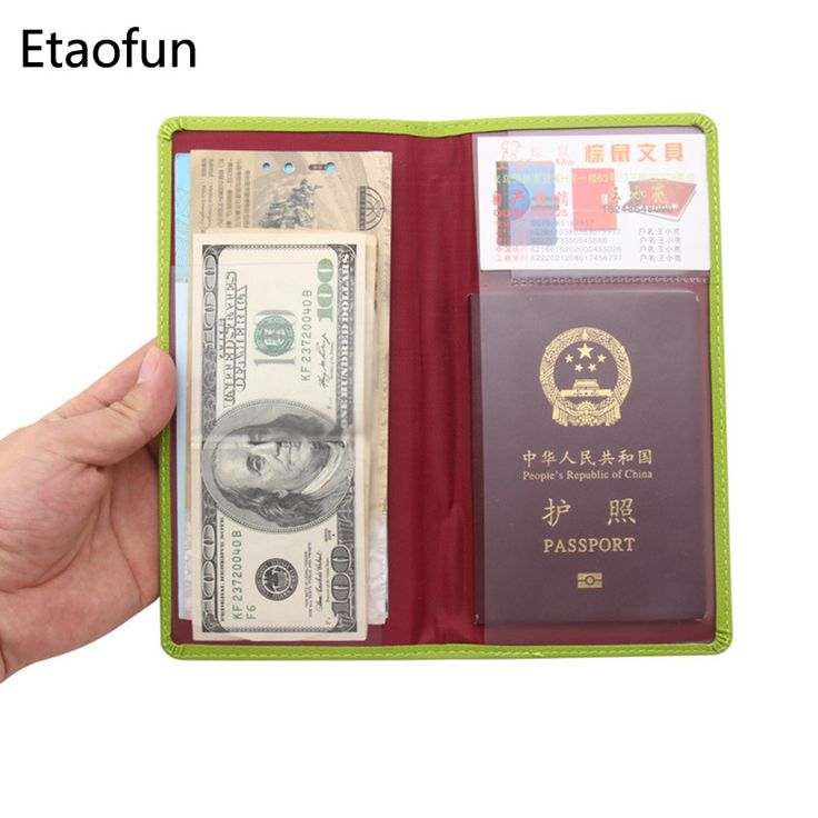 Travel Passport Holder Business Credit Card Holder Passport Cover Documents Organizer Wallet Passport Bag Passenger Ticket Bag