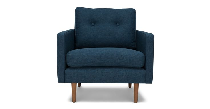 Noah Twilight Blue Armchair - Lounge Chairs - Article | Modern, Mid-Century and Scandinavian Furniture